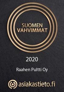 suomen vahvimmat 2020 - raahen pultti oy